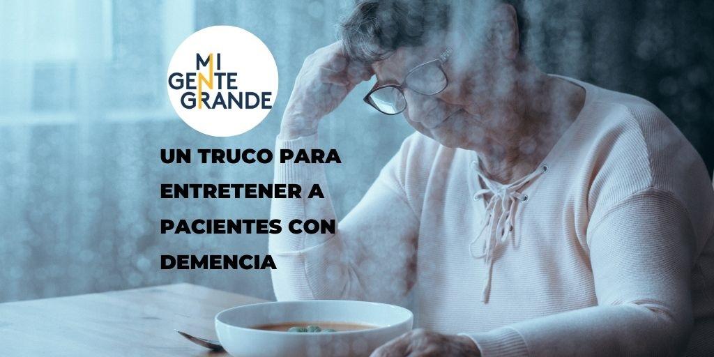 Entretenimiento para los pacientes con demencia